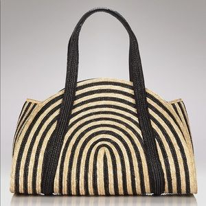Kate Spade Oversized Lawn Party Striped Tote